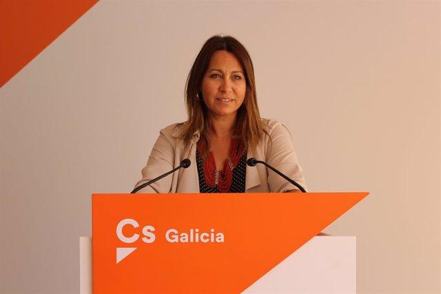 La coordinadora de Ciudadanos en Galicia, Beatriz Pino