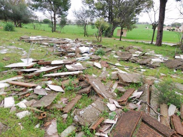 Estado del antiguo camping Oromana