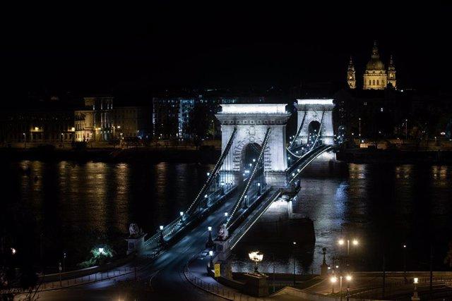 Vista aérea de Budapest en un día de noviembre.
