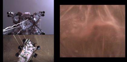El vídeo del descenso y aterrizaje en Marte del rover Perseverance