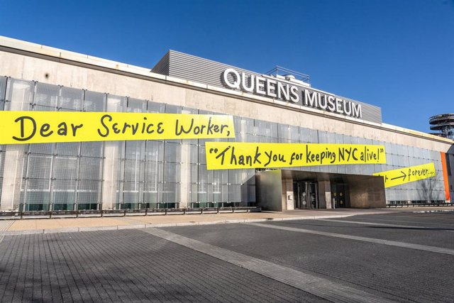 Archivo - 10 January 2021, US, New York: A general view of the Queens Museum in Corona Flushing Park future site of the NYC Health Department Vaccine Hub in Queens. Photo: Ron Adar/SOPA Images via ZUMA Wire/dpa