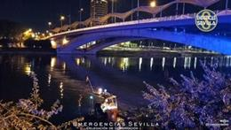 Operativo policial para la búsqueda de una persona en el Guadalquivir