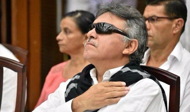 Archivo - Jesús Santrich, exguerrillero de las extintas Fuerzas Armadas Revolucionarias de Colombia (FARC)