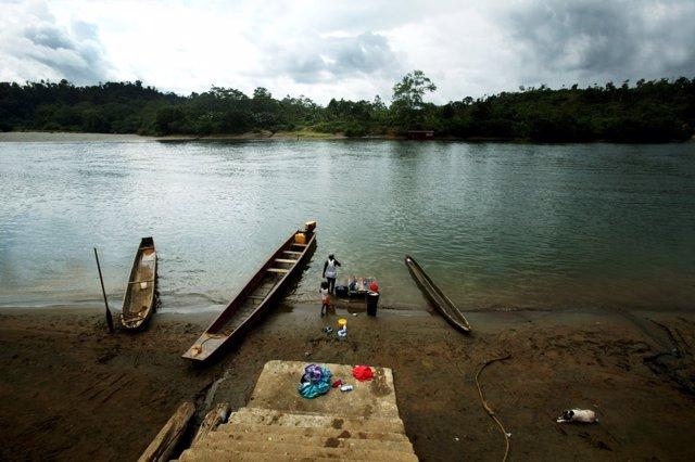 Archivo - Un río en Nariño, Colombia