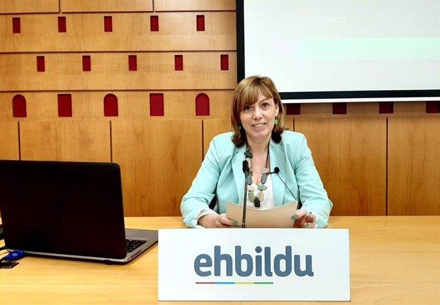 Archivo - La portavoz de EH Bildu en Gasteiz Miren Larrion.