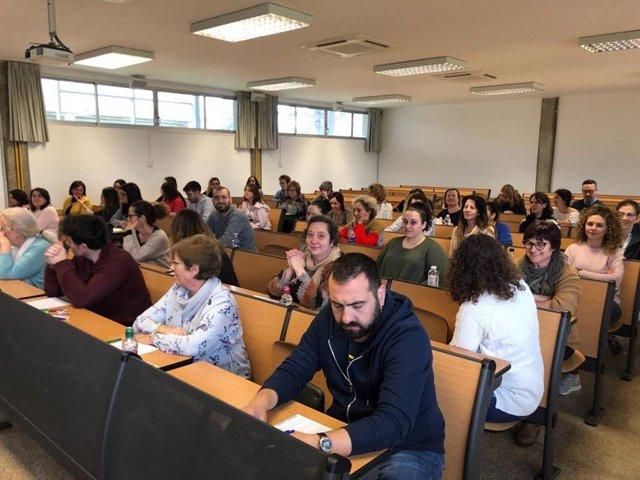 Archivo - Unas pruebas de oposiciones en 2019, en Palma.