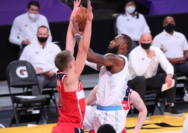 LeBron James en el Lakers - Wizards