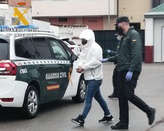 Uno de los detenidos en Burgos con armas y droga.
