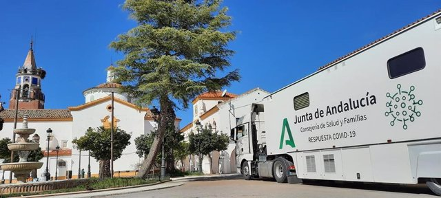 La Unidad Móvil de la Consejería de Salud y Familias en Valsequillo.