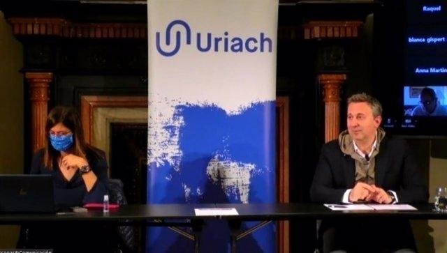 El CEO d'Uriach, Oriol Segarra, durant la presentació.