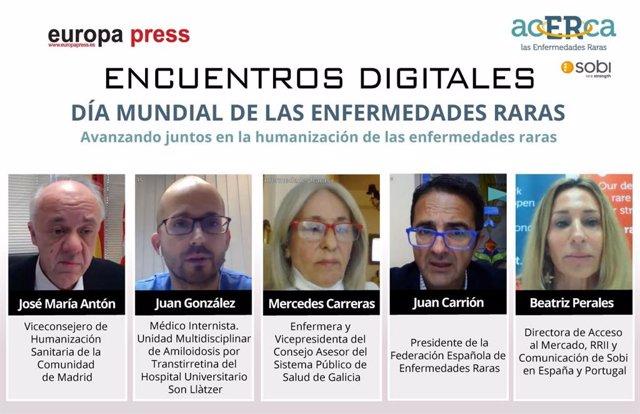 Encuentro digital 'Día Mundial de las enfermedades raras. Avanzando juntos en la humanización de las enfermedades raras',