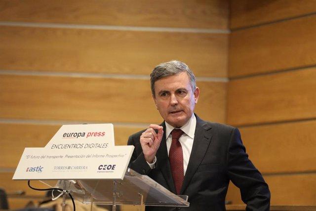 Archivo - El secretario de Estado de Transportes, Movilidad y Agenda Urbana, Pedro Saura