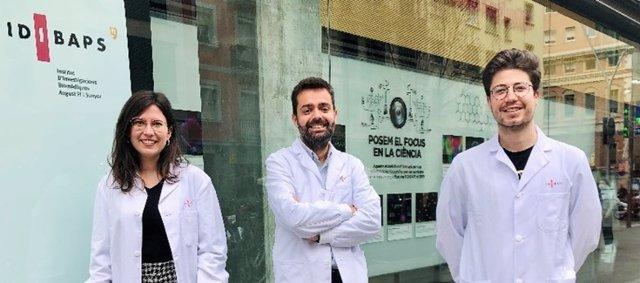 Zoe Boyer-Diaz, Jordi Gracia-Sancho y Peio Aristu-Zabalza, autores principales del trabajo