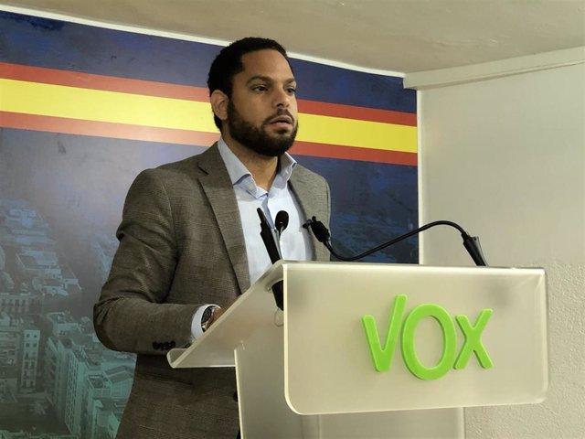El líder de Vox en Catalunya, Ignacio Garriga