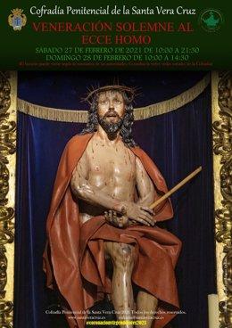 Cartel de la Veneración Extraordinaria del Ecce Homo.