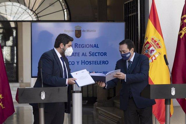 Firma del Plan de Rescate a la Hostelería y el Turismo de la Región de Murcia