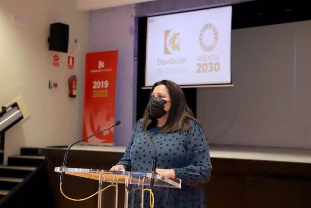 La presidenta de Iprodeco, Dolores Amo, presenta el Programa Empleabilidad contra el Despoblamiento