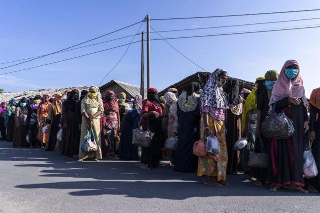 Archivo - Refugiados rohingyas en Indonesia
