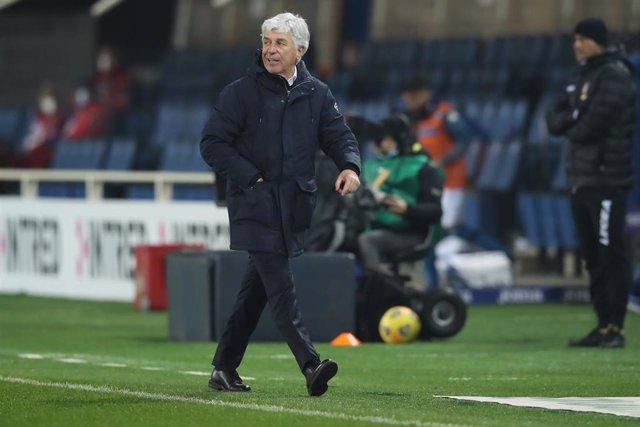El entrenador del Atalanta, Gian Piero Gasperini