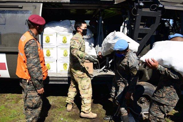 Imagen de archivo de soldados guatemaltecos.