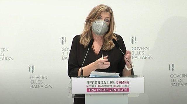 La consellera de Salud y Consumo, Patricia Gómez, en la reuda de prensa.