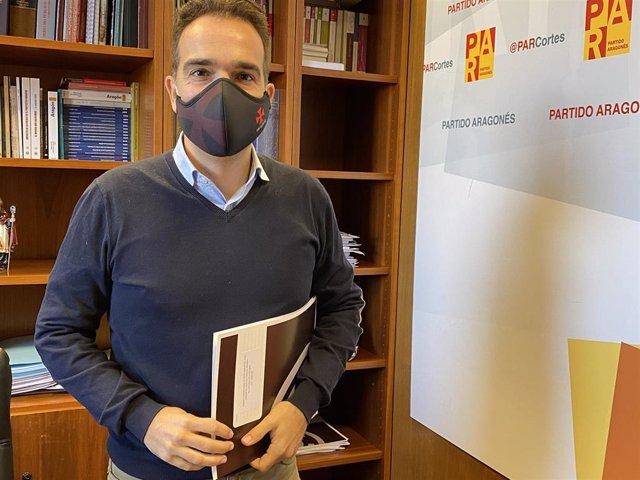 Archivo - El portavoz parlamentario del PAR, Jesús Guerrero.