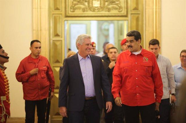Archivo - Miguel Díaz-Canel y Nicolás Maduro