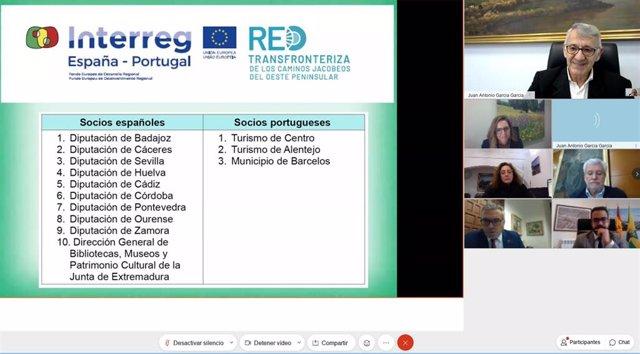Diputación participa en la asamblea constituyente de la Red Transfronteriza de los Caminos Jacobeos del Oeste Peninsular.