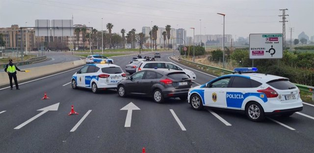 Control policial en València