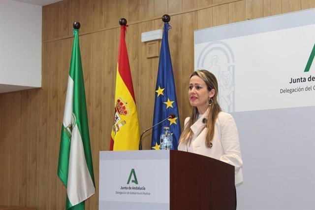 La delegada de la Junta en Huelva, Bella Verano.