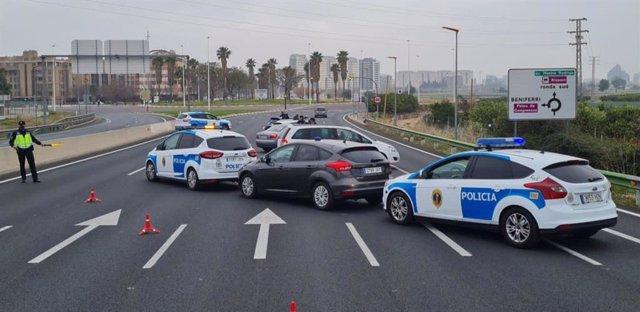 Control policial a València