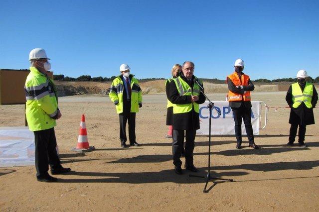 El presidente de Argón, Javier Lambán, ha visitado la ampliación de las obras de PLAZA