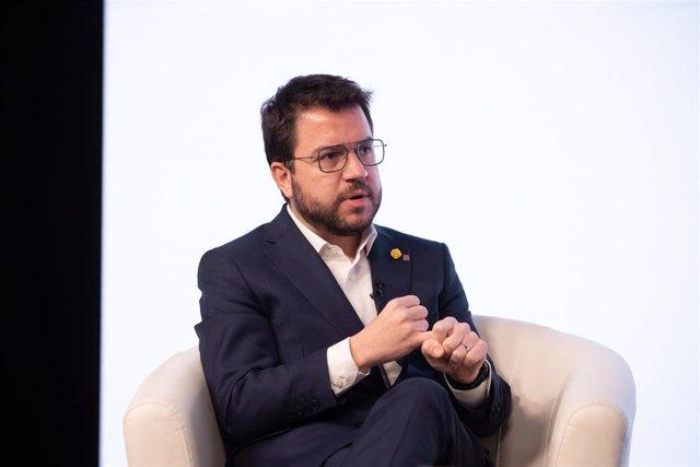 Archivo - El vicepresidente en funciones de presidente de la Generalitat y candidato de ERC a la Presidencia de la Generalitat de Catalunya, Pere Aragonès.