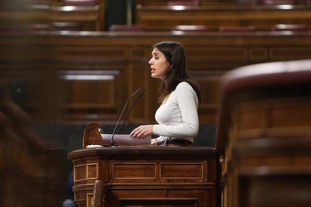 Archivo - La ministra de Igualdad, Irene Montero,