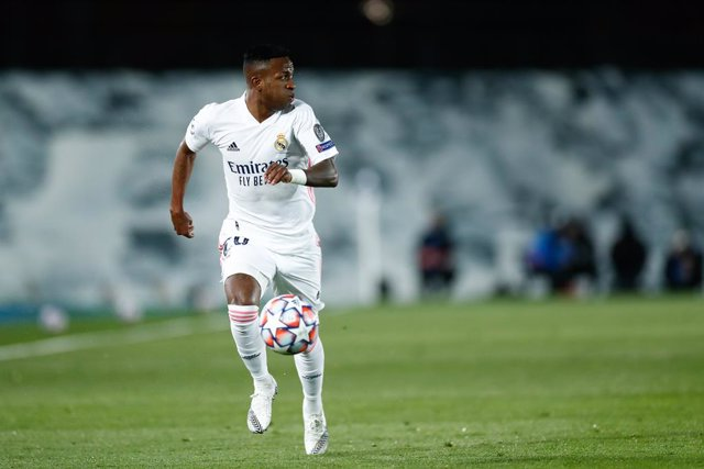 Archivo - Vinicius Junior of Real Madrid in action during the UEFA Champions League football match played between Real Madrid and Borussia Monchengladbach at Ciudad Deportiva Real Madrid on december 09, 2020, in Valdebebas, Madrid, Spain
