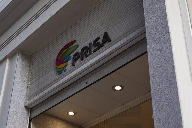 Archivo - Logo de Grupo Prisa en domicilio Social.