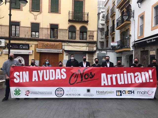 Protesta de los hosteleros sevillanos