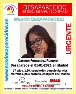 Archivo - Buscan a chica de 17 años desaparecida en Año Nuevo en Madrid