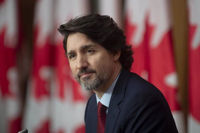 19 February 2021, Canada, Ottawa: Candian Prime Minister Justin Trudeau listens to question during a news conference in Ottawa. Photo: Adrian Wyld/The Canadian Press via ZUMA/dpa