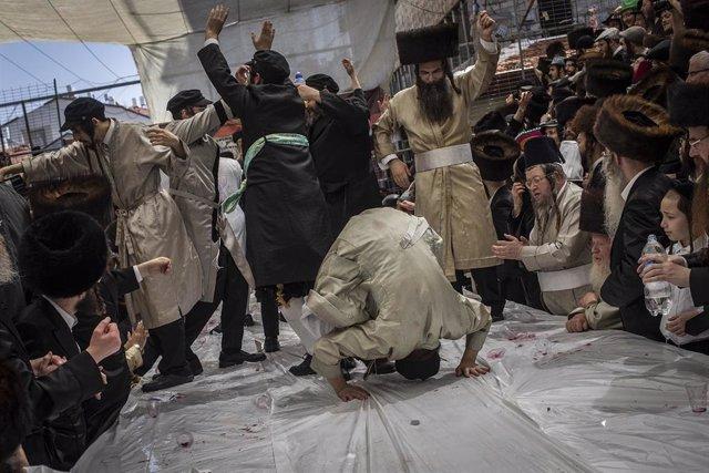 Archivo - Celebración del Purim el año pasado en un barrio ultraortodoxo de Jerusalén.