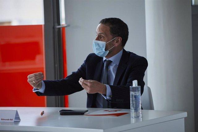 El portavoz adjunto de Cs en el Congreso, Edmundo Bal, durante una reunión del Comité Permanente del partido, en Madrid (España), a 16 de febrero de 2021.