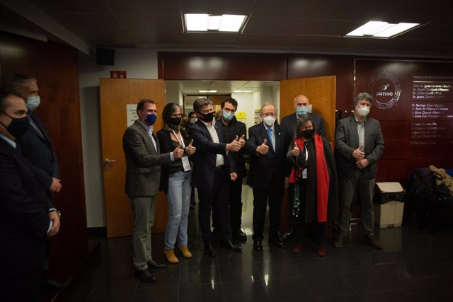 Antoni Cañete, aquest dimecres a la seu de Pimec a Barcelona després de guanyar les eleccions