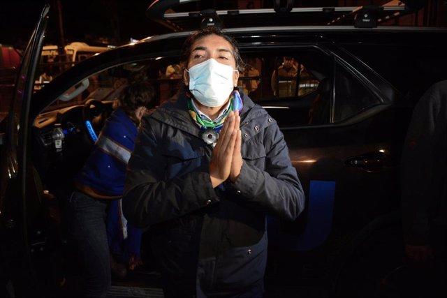 El candidato presidencial de Ecuador Yaku Pérez
