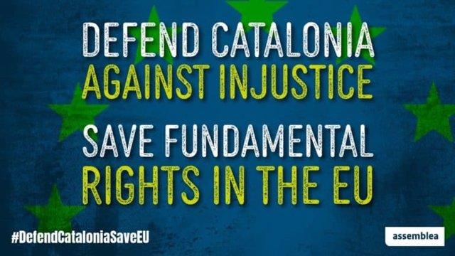 La ANC lanza una campaña para instar a los eurodiputados a no levantar la inmunidad de Puigdemont, Comín y Ponsatí
