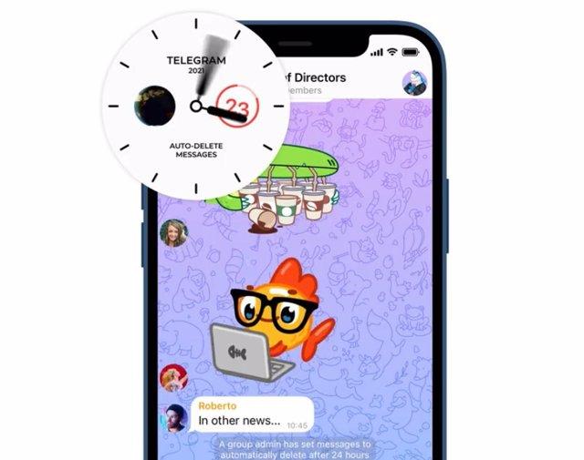 Temporizador para eliminar mensajes