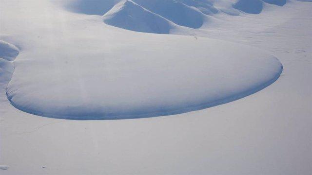 Glaciar Piamonte en el noreste de Groenlandia