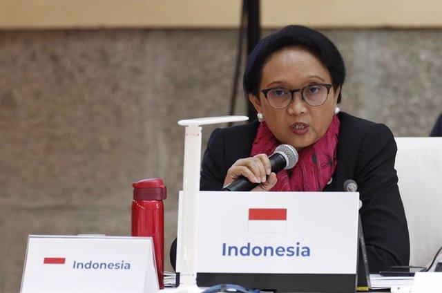 Archivo - La ministra de Asuntos Exteriores de Indonesia, Retno Marsudi, en una foto de archivo.