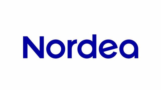 Archivo - Logo del banco nórdico Nordea.