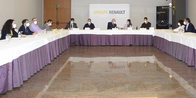 Firma del convenio colectivo de Renault.