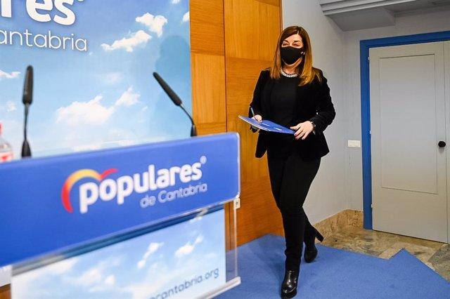La presidenta del PP de Cantabria, María José Sáenz de Buruaga. Imagen de archivo